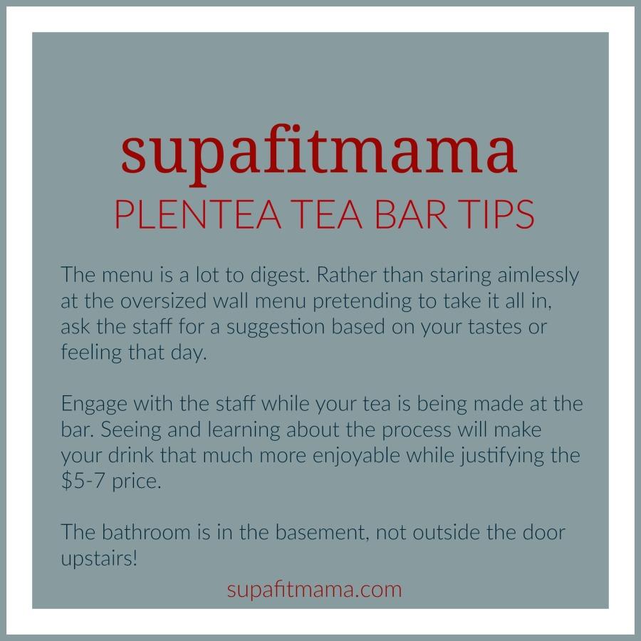 Plentea Tea Bar Tips