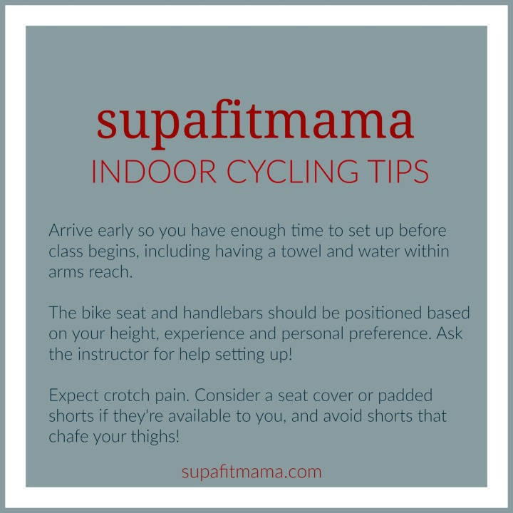 supafitmama indoor cycling tips