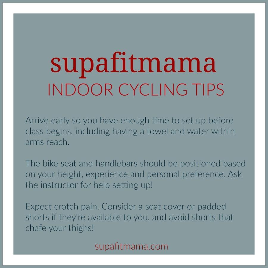 supafitmama indoor cycling tips