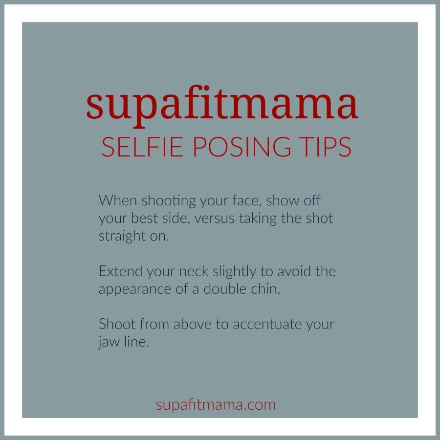 supafitmama selfie posing tips